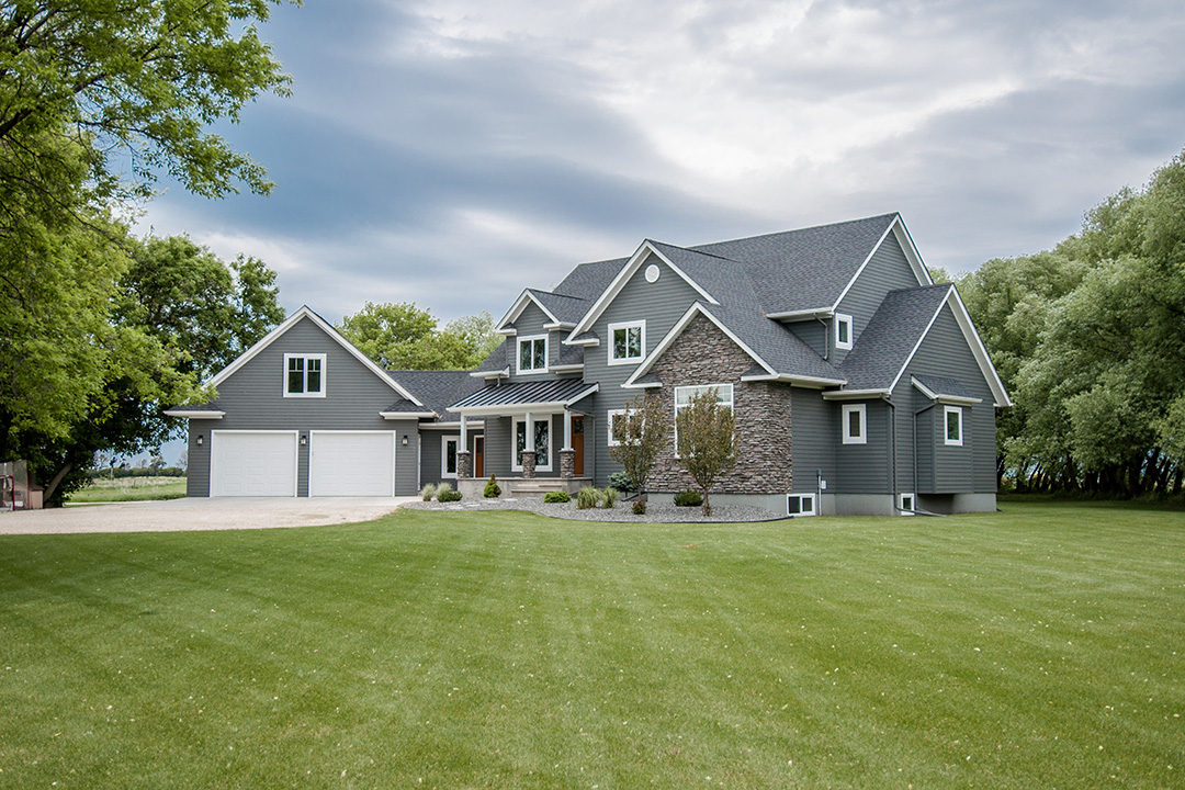 Country home exterior